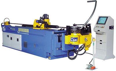 Automatická ohýbačka CNC 65 TBRE-RBE s nástrojem pro zakružování trubek.